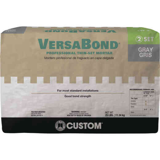 Custom Building Products VersaBond 25 Lb. Gray Fortified Thin-Set Mortar