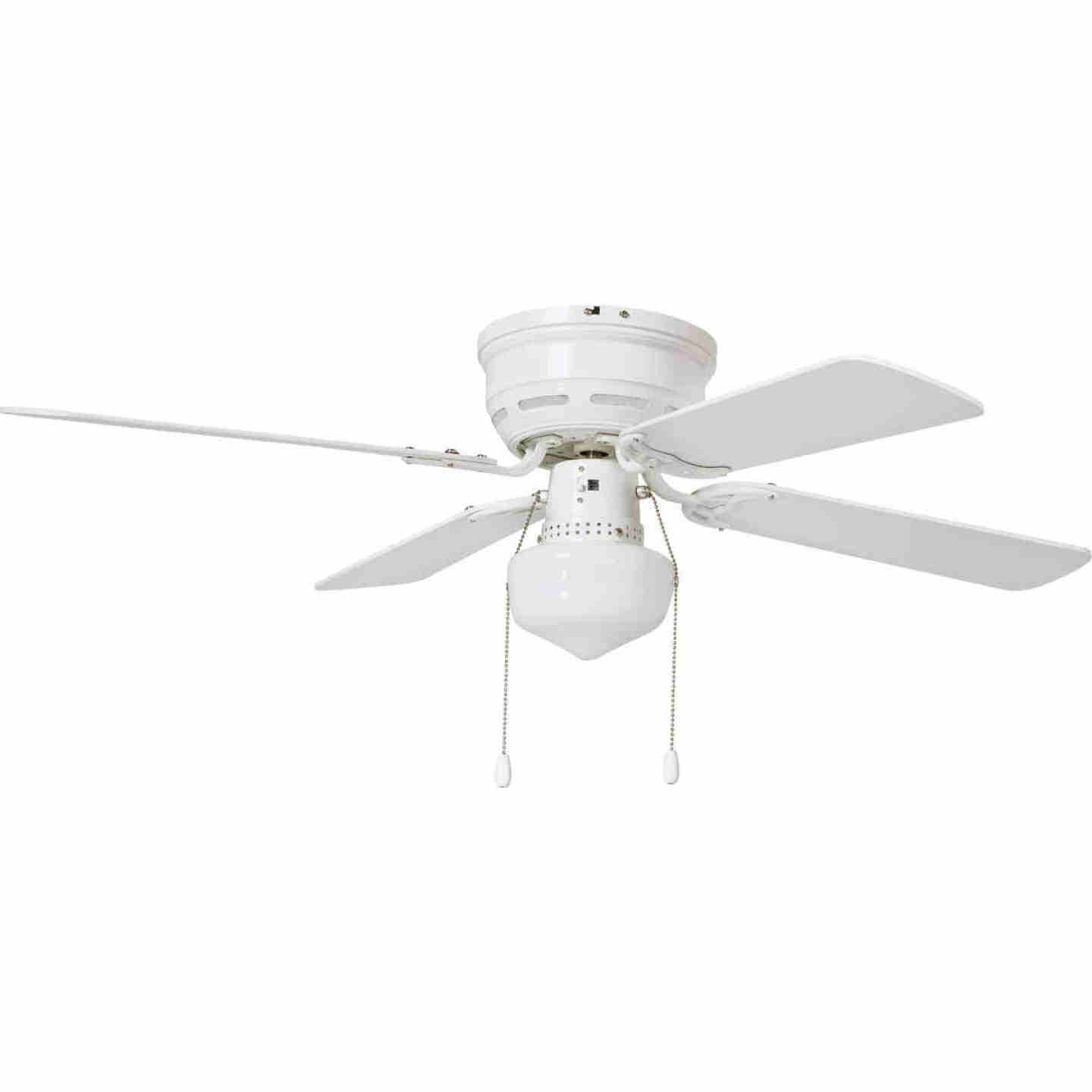 Home Impressions 42 In. White Ceiling Fan with Light Kit Image 1