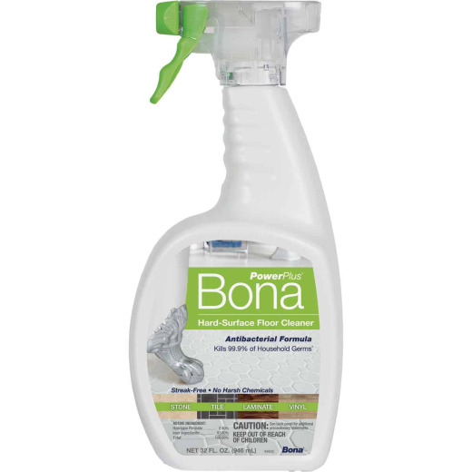 Bona PowerPlus 32 Oz. Hard-Surface Anti-Bacterial Floor Cleaner